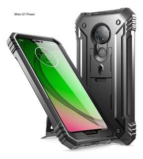 Case Moto G7 Power Carcasa 360° Recia C/ Parador C/ Mica Usa