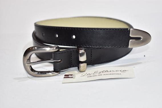 Cinturón Dama Cuero Vacuno, Puntera Metalica