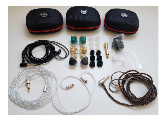 In Ear Kz Customizado - 10 Drives + Kit Extra - Retor/palco