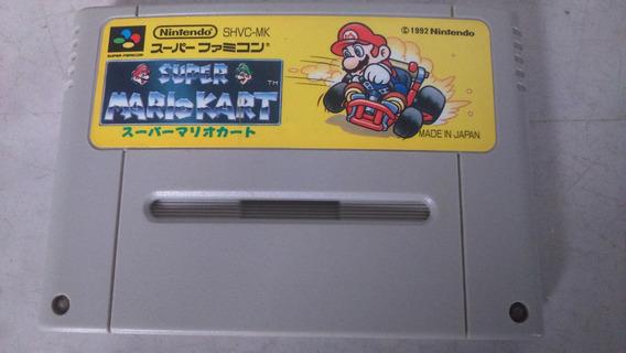 Cartucho Super Mario Kart Super Nintendo Famicom Em Japonês