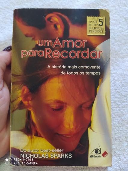 Livro De Bolso: Um Amor Para Recordar- Nicholas Sparks