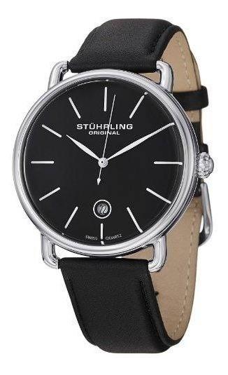 Reloj Acero Inoxidable Correa Cuero Hombre 768.02 Stührling