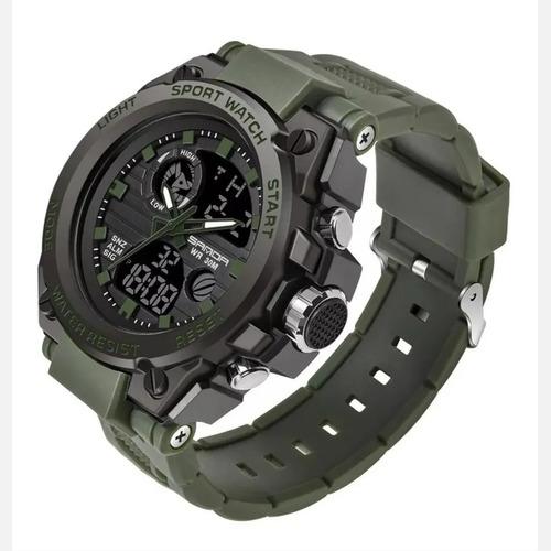 Relógi Masculino Sanda 739 Militar Prova D'água Original