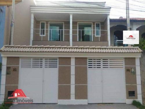 Casa Duplex C/2 Dormitórios Sendo 2 Suites Em Fino Acabamento - Cg/rj - Ca0044