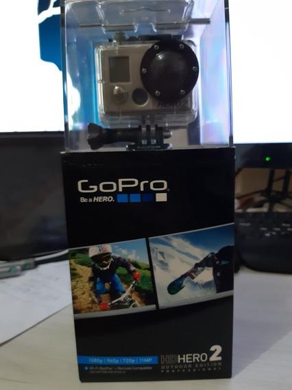 Gopro Hero2 Original - Botão De Cima Travado,+liga Com Wi-fi