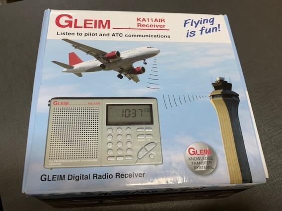 Rádio Receptor Digital Da Faixa De Aviação Gleim Ka11