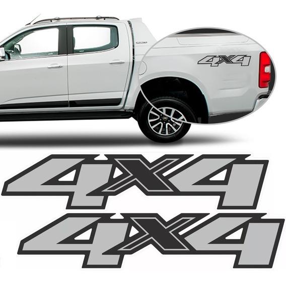 Par Adesivo 4x4 S10 2013 2014 2015 2016 2017 2018 2019 2020