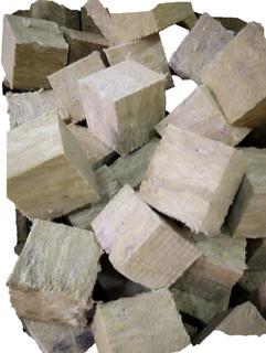 10 Piezas 3 * 3 * 2.5 Cubos De Sustrato Lana Mineral