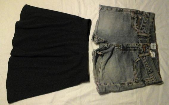 2x1 Pantalon Shorts Calvin Klein Mujer + Pollera Mini (#10)