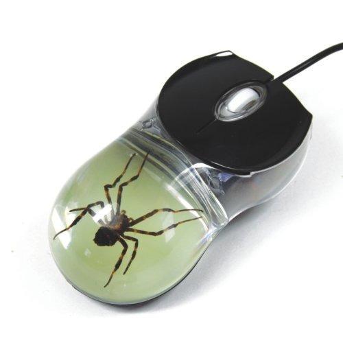 Spider Computer Mouse Con Glow En El Fondo Oscuro