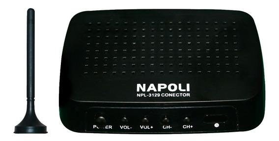 Conversor Digital Para Tv Com Antena E Controle Napoli