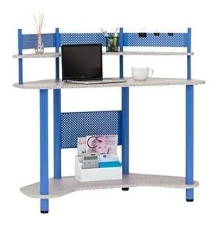 Calico Designs 55120 Escritorio De Esquina De Estudio, Azul