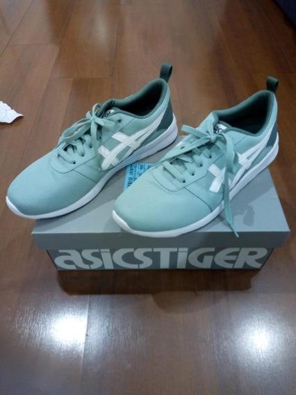 Tênis Asics Tiger Lyte-jogger Verde Street Wear Esporte