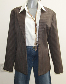 Larry Levine Suits Saco Mujer Color Cafe Talla 14