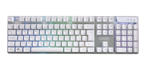 Teclado Gamer Prismatic Semi Mecânico Comando Voz Oex Tc205
