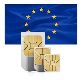Chip Europa Internet - 10gb - 30 Dias - Ligação E Sms