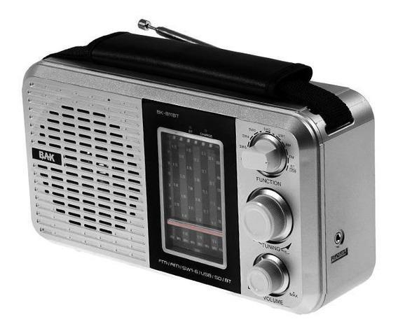 Rádio Am Fm Com Bluetooth Usb Bak Bk-811bt - 110v