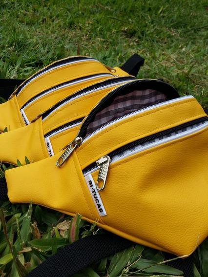 Riñoneras Eco Cuero Amarillas