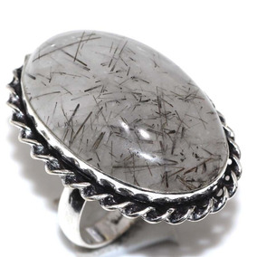 Quartzo Rutilado Anel Aro 16 Pedra Genuina
