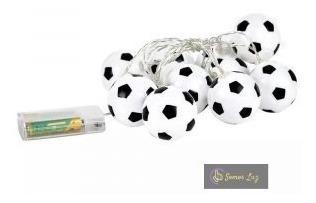 10 Balones De Fútbol Led Decoración Guirnalda Lampara Cadena