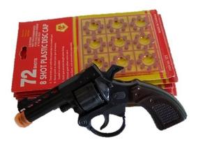 Revolver Espoleta Miniatura Brinquedo+10 Cartela De Espoleta