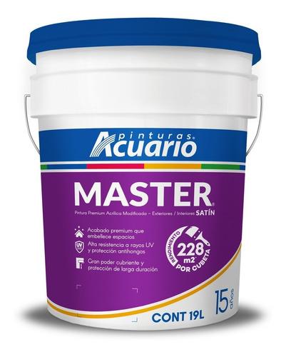 Imagen 1 de 3 de Pintura Vinílica Premium Master Acuario 19 L. Color Blanco