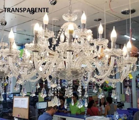 Lustre Cristal Legítimo 18 Braços - Lampadas Inclusas