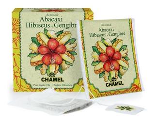 Abacaxi, Hibiscus E Gengibre 10 Sachês