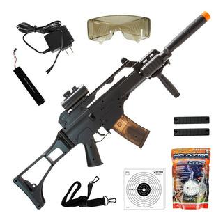 Rifle De Airsoft Cyma G36 Cm021 Elétrico Bivolt 6mm + 2000 Bbs + Óculos, Red Dot E Bandoleira