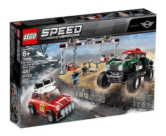Lego Speed Champions Mini Cooper S Y John Cooper Works 75894
