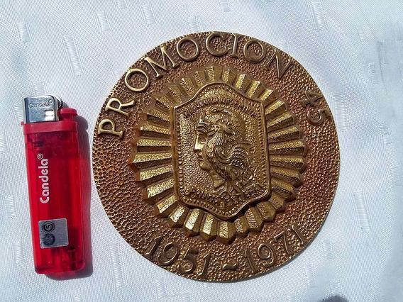 Antiguo Recordatorio Policia Federal Argentina Bronce Macizo