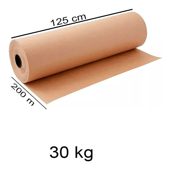 Rollo Papel Kraft 30 Kg Medidas: 125 Cm X 200 Mts Cal 125 G