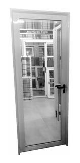Puertas Aluminio Blanco 80x200 Vidrio Entero 6mm
