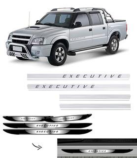 Kit Adesivo Faixa Lateral S10 Executive + Soleira Da Porta