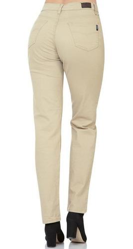 Pantalon Oggi Jeans Mujer Beige Gabardina Stretch Atraction Salvaje Tentacion St