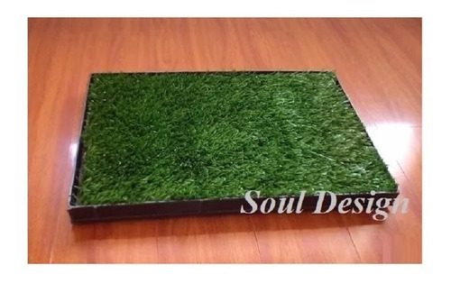 Imagen 1 de 8 de Repuesto Pasto Sintético Para Bandeja Sanitaria M 35x50 Soul