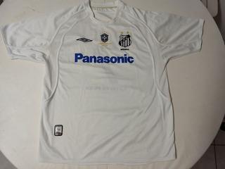 Camisa Do Santos Futebol Clube - Patch Da Cbf Campeão Brasileiro - Numero 7 - Tam: G - Ano: 2005 - Umbro - Robinho Lc