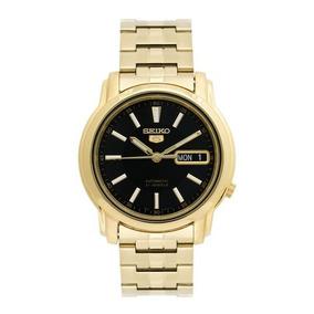 Relógio Masculino Seiko Automatico Dourado Snkl88k1