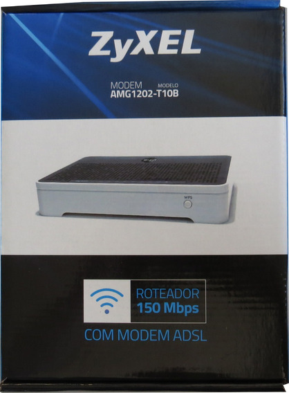 Modem Roteador Zyxel® (amg1202-t10b) Wi-fi 150mbps