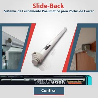 2x Slide-back Fechamento Pneumático Portas De Vidro Correr