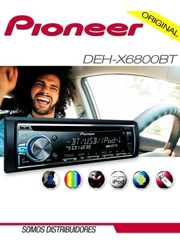 Imagen 1 de 1 de Radio Reproductor Pioneer Deh-x6800bt Bluetooth