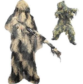 Roupa Camuflagem Sniper Ghillie Airsoft Paintball Gandola