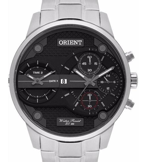 Relógio Orient Masculino Dual Time - Mbsst001 P1sx