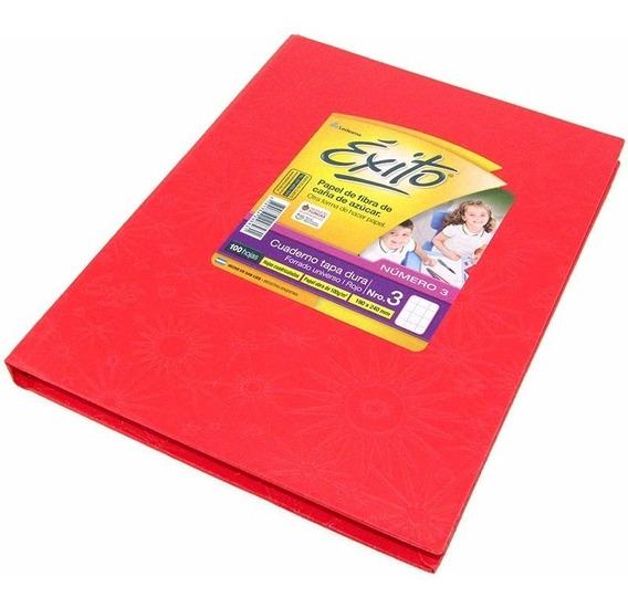Cuaderno Exito Universo 3 Abc Cuadriculado 19x24cm Rojo