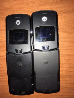 2 Celulares Motorola V3 Para Tirar Peça + Uma Caixa Original