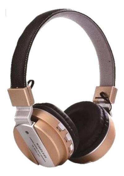 Fone De Ouvido Headphone S/ Fio Cartão Sd Bluetooth Fm Sport