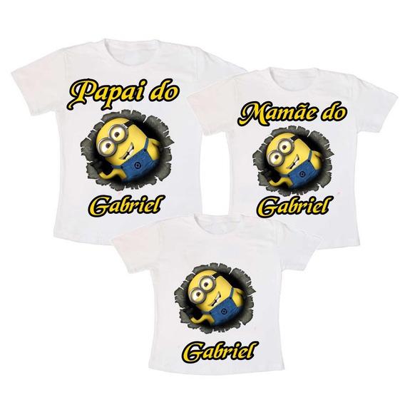 Kit 6 Camisetas Aniversário Infantil