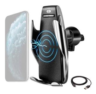 Cargador Auto Wireless Qi Ventilacion Soporte Automatico S5