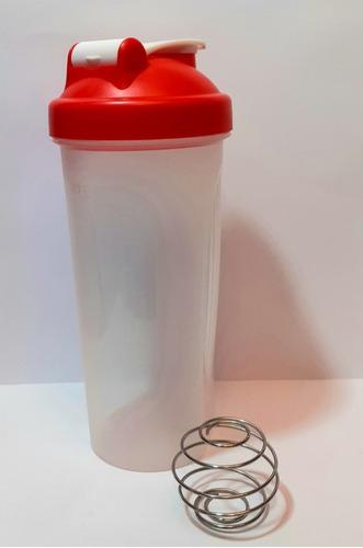 Vaso Fitness Con Batidor. Color Rojo De 600 Ml.
