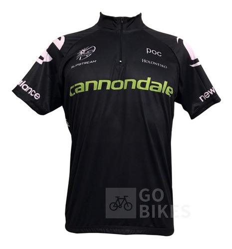 Camisa De Ciclismo Team Cannondale Black - Promoção / 12x Sem Juros